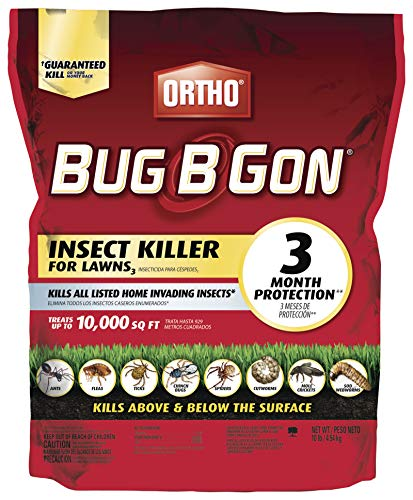 Ortho Bug B Gon Insect Killer for Lawns3, 10 lb. - Kills Ants, Fleas, Ticks, Chinch Bugs, Mole Crickets and Cutworms - Use on Lawns, Ornamentals and Home Perimeter - Treats up to 10,000 sq. ft. (Best Stuff To Kill Fleas)