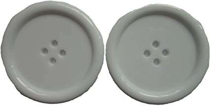 LARGE  BUTTONS 2 HOLE 25mm and 38mm  WHITE   pack of 4
