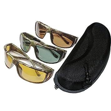 Río pico camuflaje polarizadas gafas de sol puede seleccionar un sunglassescolor con funda, Amarillo
