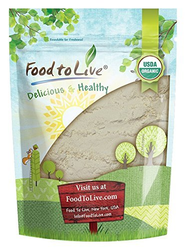 Organic Guar Gum Powder by Food to Live (Great Thickener & Binder, Food Grade, Perfect for Baking, Non-GMO, Kosher, Vegan, Bulk) — 4 Ounces
