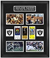 Oakland Raiders Framed Super Bowl Replica Ticket & Photo Collage - Fanatics Authentic Certified - NFL Ticket Plaques and Collages
