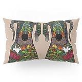 Society6 Great Dane Love Beige Pillow Sham King (20'' x 36'') Set of 2