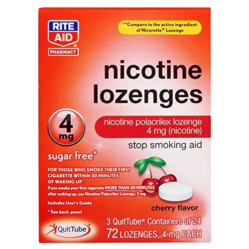Rite Aid Cherry Nicotine Lozenges, 4mg – 72 Lozenges | Cherry Flavor | Sugar Free Quit Smoking Products | Stop Smoking…
