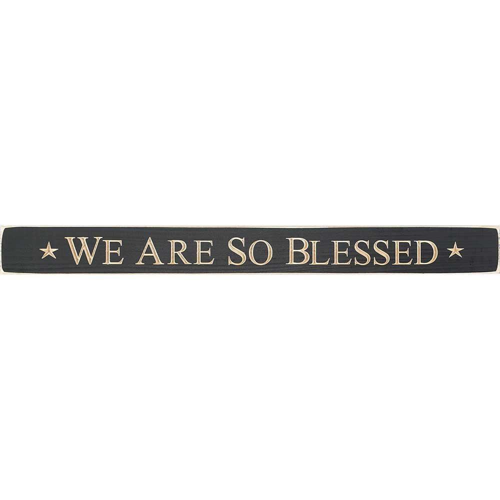 Dicksons We Are So Blessed Cutout Design Rustic Onyx 24 x 3.5 Wood Wall Sign Plaque