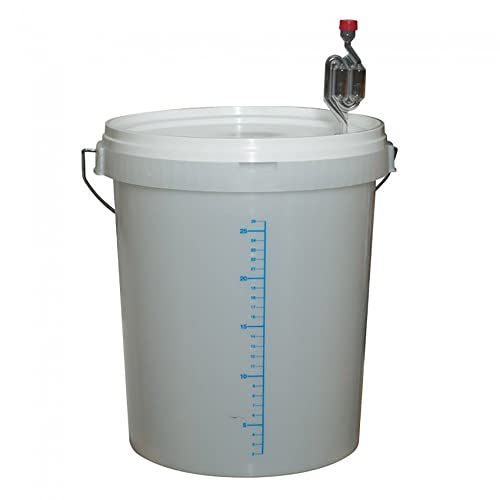 30 Litre Graduated Fermentation Bucket with Lid, Grommet & Airlock by Love Brewing