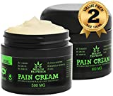 (2-Pack) Organic Hemp Cream for Pain Relief | Emu Oil Turmeric MSM Arnica