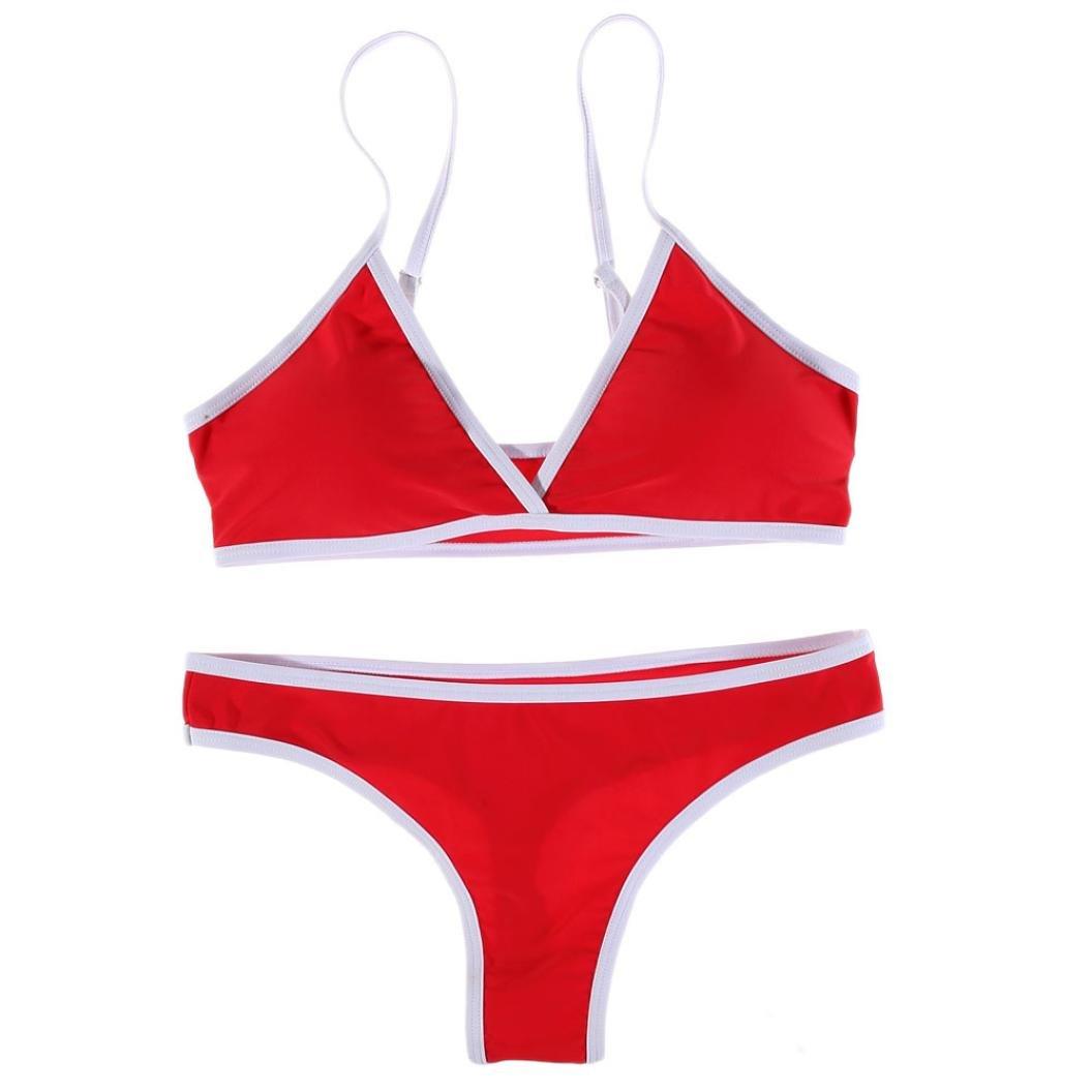 Jimmackey Bikini Donna Brasiliana Imbottito Push-Up Costume Da Bagno Mare Triangolo Thong Sgambato Set