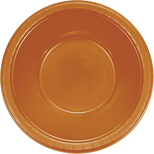 - Creative Converting 324812 Touch of Color 240 Count 12 oz Plastic Bowls, Pumpkin Spice