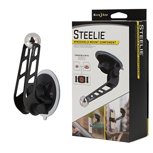 Nite Ize Original Steelie Windshield Mount - Additional Car Windshield Mount for Steelie Magnetic Mounting System