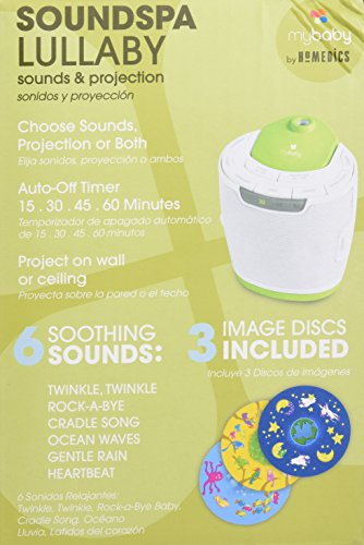 MyBaby by HoMedics: MyBaby SoundSpa Lullaby Sound Machine and Image Projector with 6 sounds and Auto-off Timer 3