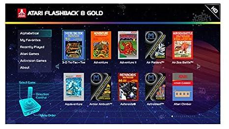 92d92bf6ff02 Amazon.com  Atari Flashback 8 Gold Console HDMI 120 Games 2 Wireless  Controllers  Video Games