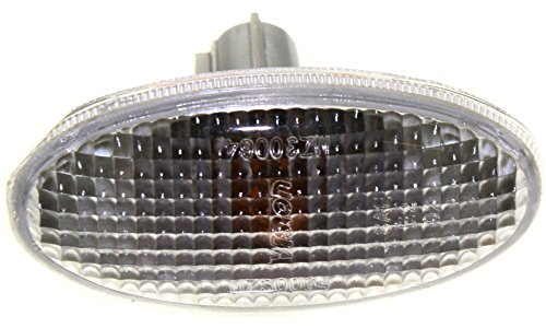 Ribbed Dot (Evan-Fischer EVA218081314100 New Direct Fit Side Marker Light Lamp CAPA Certified DOT/SAE Compliant Ribbed lens With Bulb(s) Driver or Passenger Side Replaces Partslink# MA2570102C)
