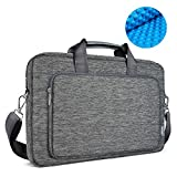 OneOdio 17.3 Inch Briefcase Messenger Shoulder Bag with Handle and Shoulder Strap Multi-functional Waterproof Carrying Case for Laptop/Notebook/MacBook/Ultrabook/Chromebook Computers (Grey)