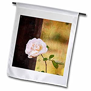 PS Flowers - Vintage Inspired Rose and Fence - Flowers - Floral Print - 12 x 18 inch Garden Flag (fl_57298_1)