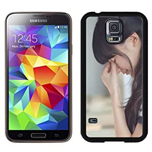 Beautiful Custom Designed Cover Case For Samsung Galaxy S5 I9600 G900a G900v G900p G900t G900w With Fresh Girl Pinching The Nose Phone Case