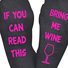 Tenworld Unisex Knit Socks If You Can Read This Bring Me Wine Socks