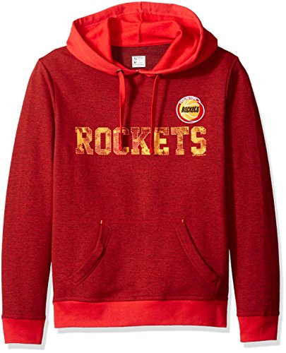 Athletic Hood Majestic (VF LSG Right Intentions Program NBA Men's Long Sleeve Pullover Hood, Xx-Large, Authentic Red Heather-Athletic Red-Yellow Gold)
