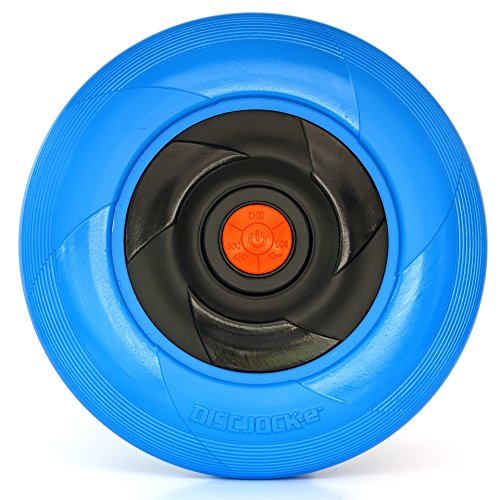 Tucker Toys Disc Jock-E -Bluetooth Speaker- The Flying Disc That Plays Your Music - Assorted Colors (Tooth Disc)