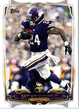 official photos b7b36 5a32f 2014 Topps NFL Football Card #23 Captain Munnerlyn Minnesota ...