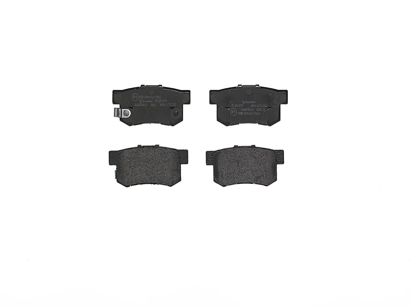 Brembo P28039 Rear Disc Brake Pad - Set of 4
