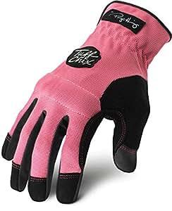 Ironclad TCX-24-L Womens Work Gloves Tuff Chix Ultimate Durable Dexterity 100% Machine Washable Large