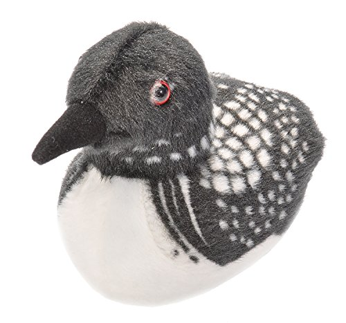 Wild Republic Audubon Birds Common Loon Plush with Authentic Bird Sound, Stuffed Animal, Bird Toys for Kids & Birders