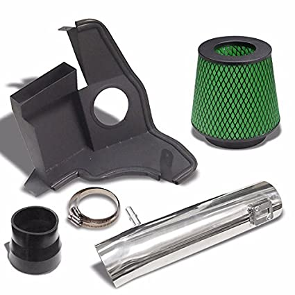 Black Green Cold Air Intake Kit Filter For 2011-2014 Ford Mustang 3.7L V6
