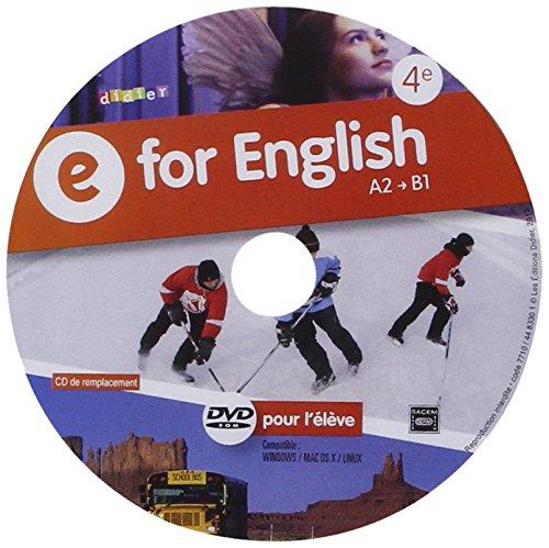 E for English 4e - DVD-rom de remplacement