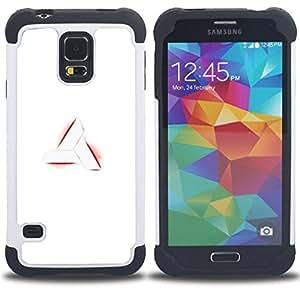 """SAMSUNG Galaxy S5 V / i9600 / SM-G900 - 3 en 1 impreso colorido de Altas Prestaciones PC Funda chaqueta Negro cubierta gel silicona suave (Nimus sesión"""")"""