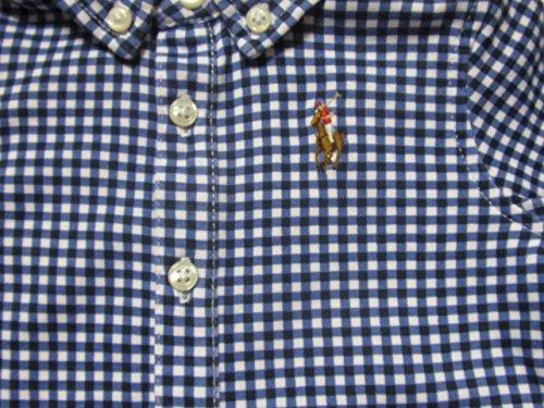 Ralph Lauren Baby Boys' Gingham Cotton Shortalls 1 Piece Outfit Onesie (9 Months, French Navy Multi)