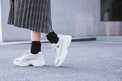 Casuales Caminar Zapatos 36 Color para Comodidad Plano Blanco Transpirable tacón Zapatos Zapatos Zapatos Verano Zapatillas Mujer de de atlética tamaño de 2018 Zapatos de Malla taq4arAS