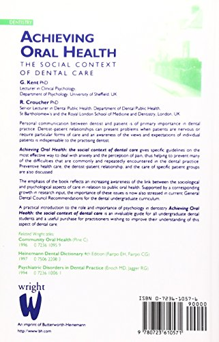 Achieving Oral Health: the Social Context of Dental Care