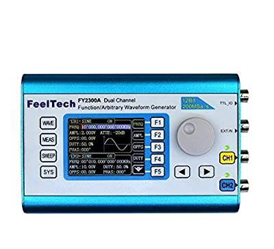 Longruner 20MHz Arbitrary Waveform Dual Channel High Frequency FY2300 Signal Generator 200MSa/s 100MHz Frequency Meter DDS