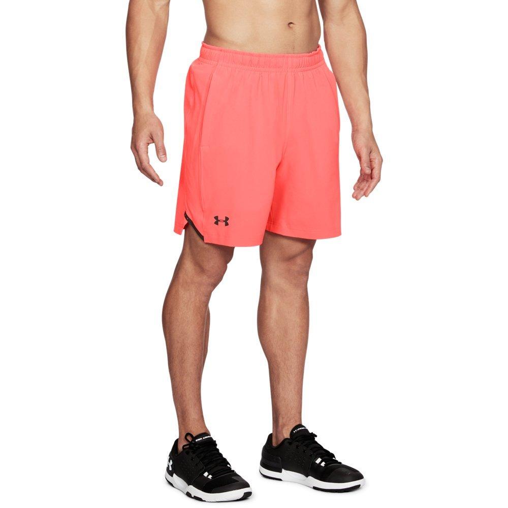 Under Armour Men's Forge 7'' Tennis Shorts, Neon Coral (985)/Black, XXX-Large
