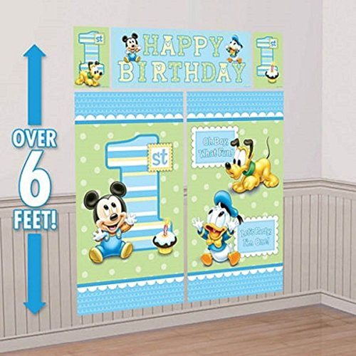 Mickey Mouse Background - Mickey Mouse Scene Setter First Birthday 5 pieces