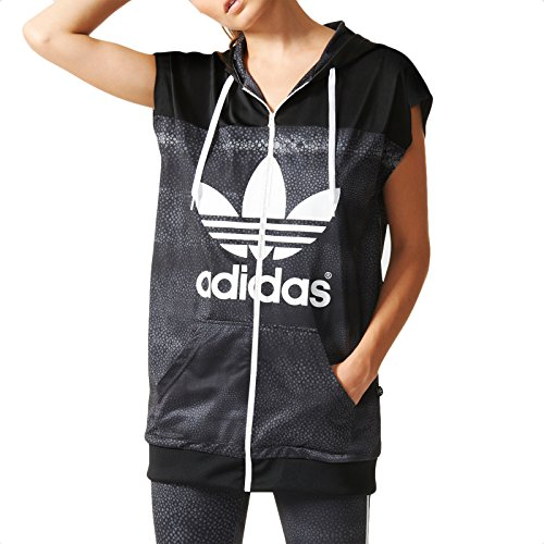 adidas M Moon TT Vest - Sudadera para mujer, color negro / blanco / gris, talla 32