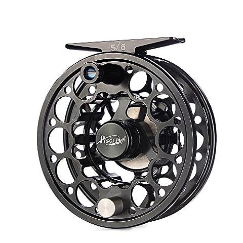 Piscifun Sword Fly Fishing Reel with CNC-machined Aluminum Alloy Body 5/6 Black (Fly Fishing Redington)