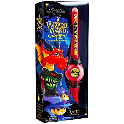 Of Dragons, Fairies, and Wizards Vog Hand Held Wand, Red: Toys & Games