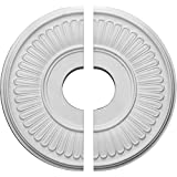 """Ekena Millwork CM15BE2 15 3/4""""OD x 3 7/8""""ID x 3/4""""P Berkshire Ceiling Medallion, Fits Canopies up to 7"""", 2 Piece"""