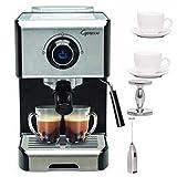 Capresso EC300 Stainless Steel 1200-Watt Espresso Machine + Free Milk Frother, Espresso Tamper and Espresso Ti