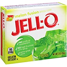 Jell-O Melon Fusion Gelatin Mix 3 Ounce Box (Pack of 6)
