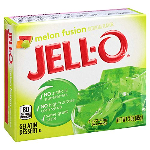 JELL-O Melon Fusion Gelatin Dessert Mix (3 oz Box)