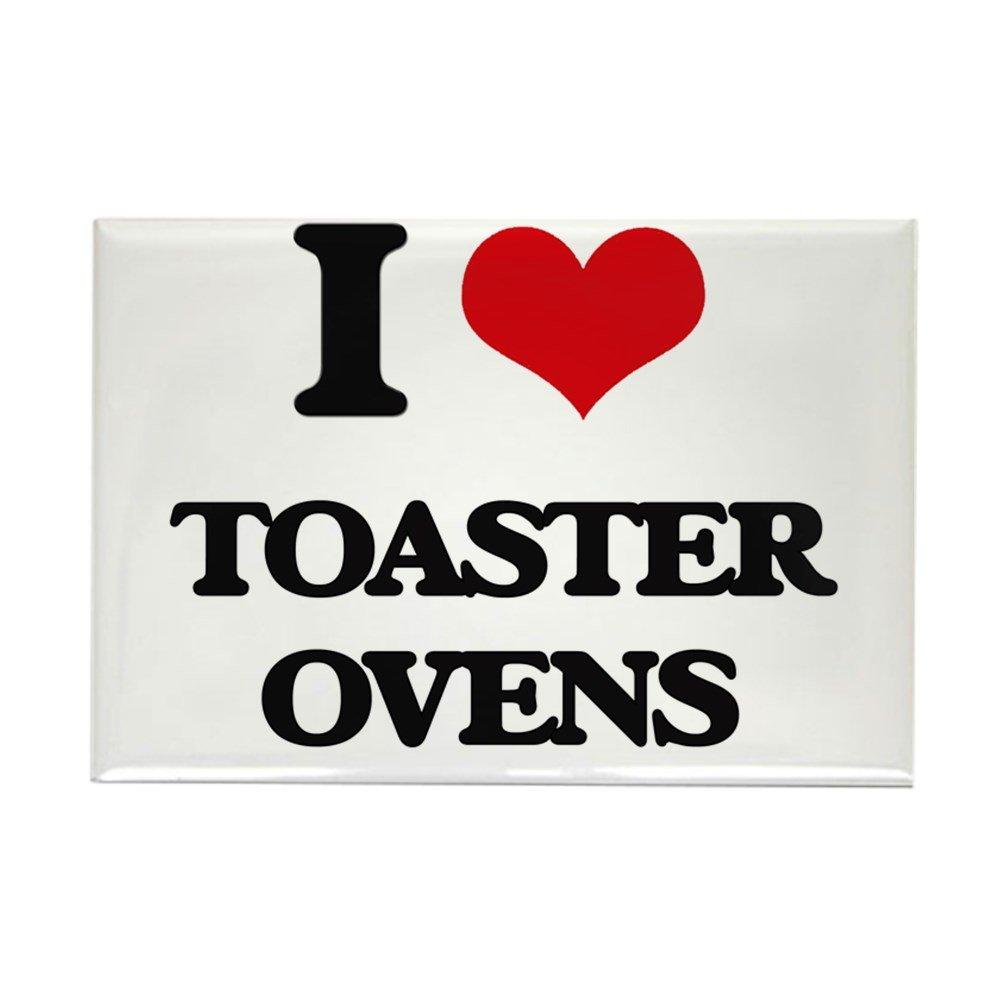 """CafePress I Love Toaster Ovens Magnets Rectangle Magnet, 2""""x3"""" Refrigerator Magnet"""