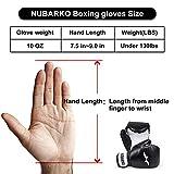 NUBARKO Boxing Gloves,Synthetic Leather Kickboxing