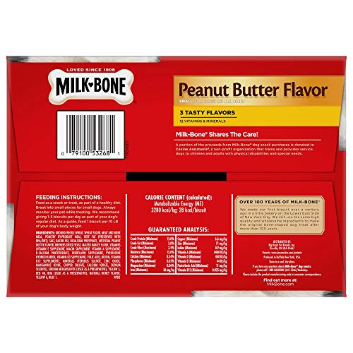 Milk-Bone Peanut Butter  Dog Treat, Small