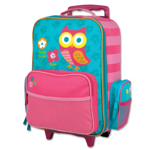 Stephen Joseph Classic Rolling Luggage with Retractable Handle, Owl