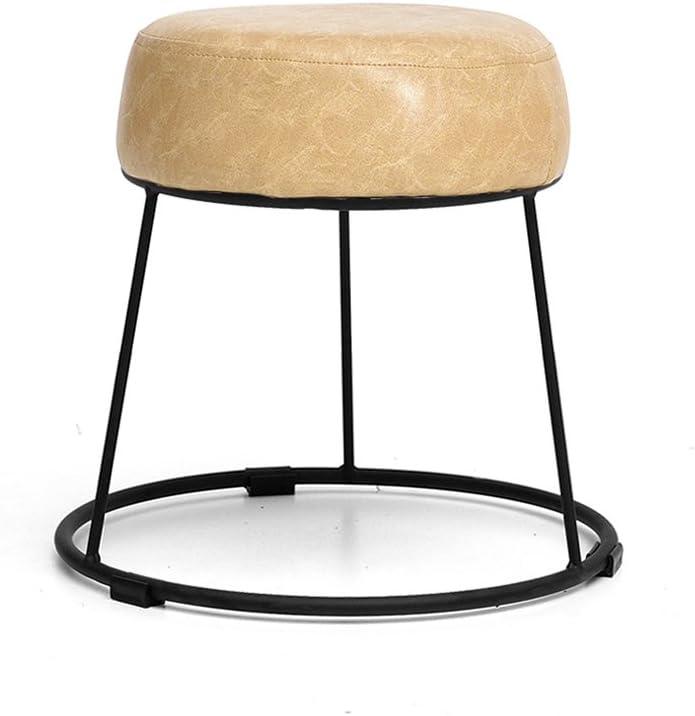 Taburete de cuero de hierro Sofá bajo de taburete Banco Taburete de mesa Taburete Taburete de mesa de té Silla de pesca Silla de jardín Equipo para exteriores Banco de calzado Taburete ( color : D1 )