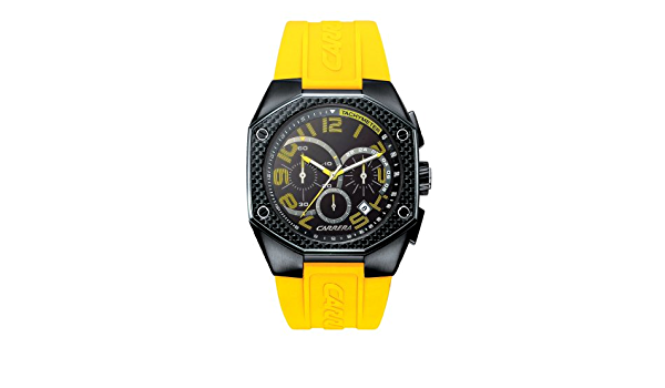 radical Salida Acusación  Amazon.com: Carrera Men's CW66431.1IK041 Sporty Chronograph Polyurethane  Watch: Watches