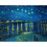 'Starry Night On Rhone River-Vincent Van Gogh,1888' oil painting, 30x39 inch / 76x98 cm ,printed on Perfect effect Canvas ,this Imitations Art DecorativeCanvas Prints is perfectly suitalbe for Living Room gallery art and Home artwork and Gifts