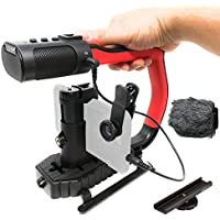 Movo MicRig Extreme Sport Edition - Video Grip Handle with Integrated Stereo Microphone, Windscreen, Fisheye Lens for iPhone 5, 5C, 5S, 6, 6S, 7, 8, X (Regular and Plus), Samsung Galaxy, Note & More